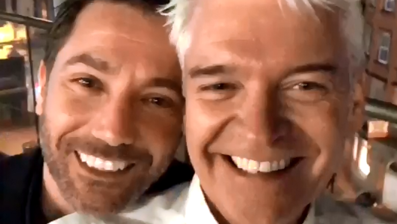 Phillip Schofield Snapchats His Big Night Out In Manchester