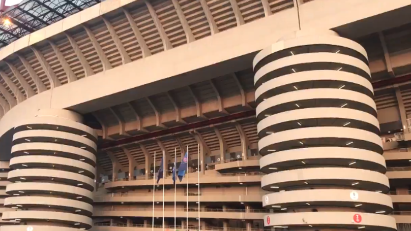Inter Milan Fans Screaming Out The Champions League Song