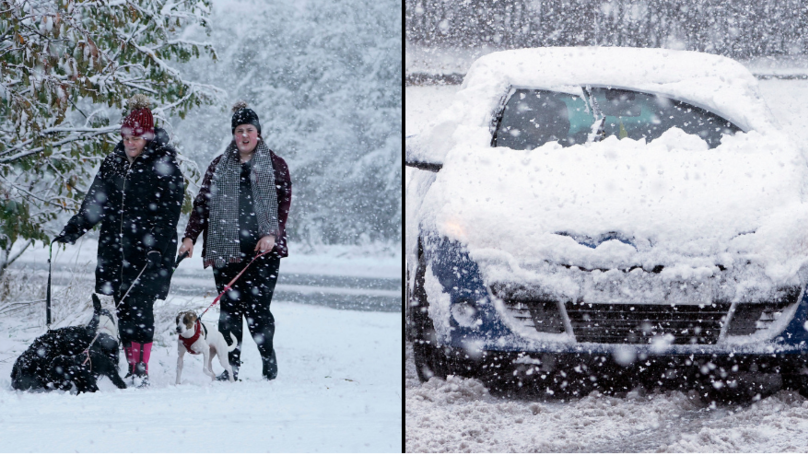 Winter's Come Early As Parts Of The UK Get Heavy Snow Fall