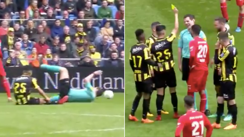 Vitesse Player Gives Referee A Yellow Card After Bizarre Incident