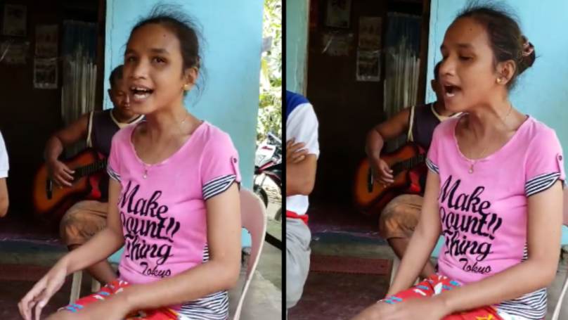 Blind Girl Who Speaks No English Sings Whitney Houston Classic Like A Pro