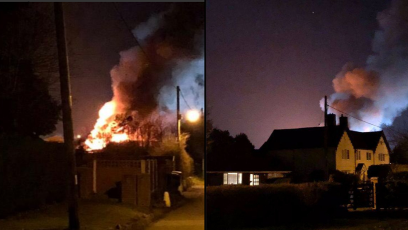 Huge Fire Breaks Out At Hospital In Tamworth