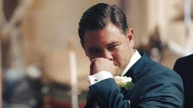 Video Captures Grooms' Emotional Reactions To Brides Walking Down The Aisle