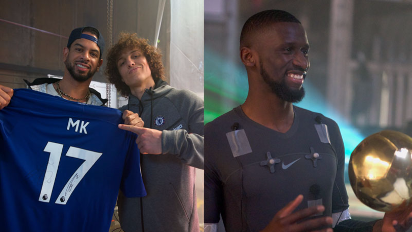 Chelsea Stars Use Football To Create Beats With DJ MK