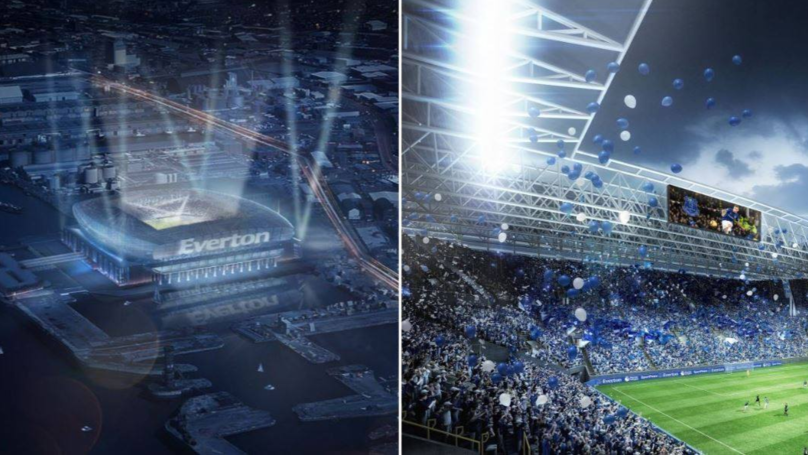 Everton Reveal Stunning Plans For New £500 Million Stadium On The Banks Of The River Mersey