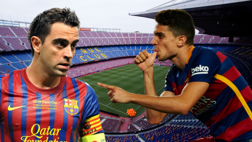Xavi's Valuable Advice To Bartra On His Debut: Pass Me The Ball If You're In Trouble