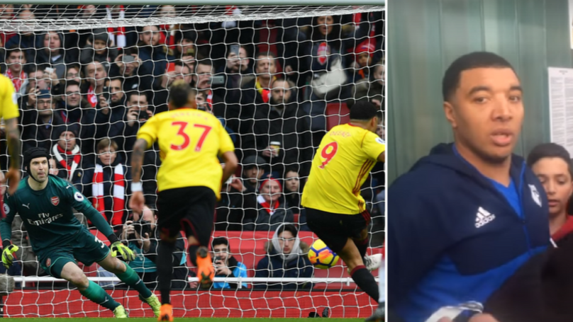 Arsenal Fans Are Giving Troy Deeney Big Respect For His Post Match Actions