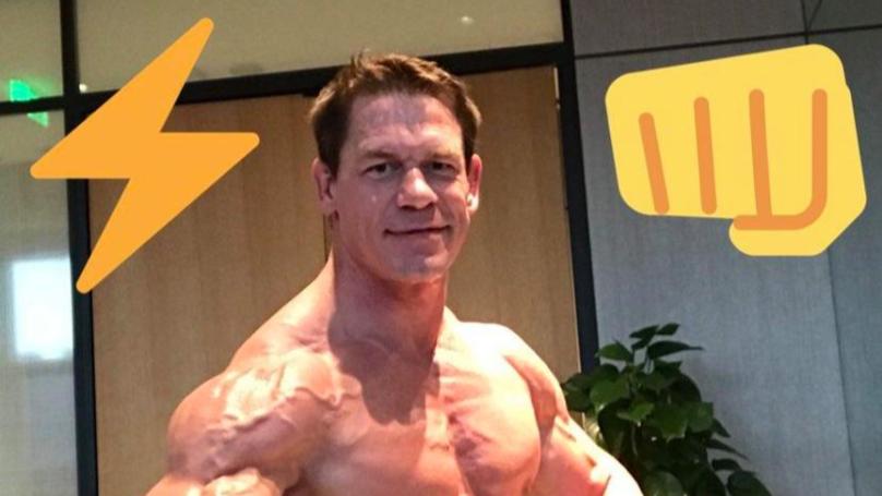WWE Wrestling Big title John Cena Displays Imprint Restful Ogle On Twitter thumbnail