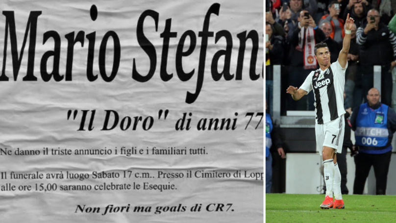 Juventus Fan Has An Unusual Request To Cristiano Ronaldo On His Funeral Notice
