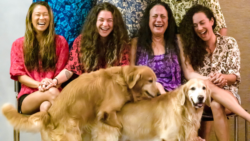 Randy Retrievers Hilariously Ruin Family Portrait In Viral Snap