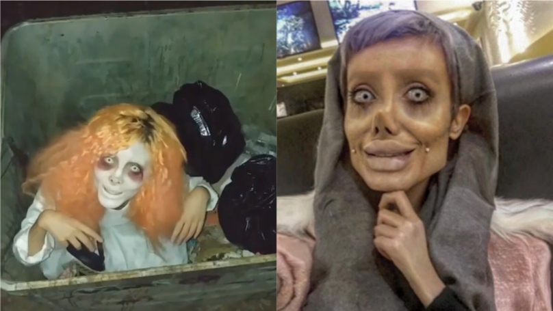 ​Angelina Jolie 'Lookalike' Shares Creepy Halloween Look