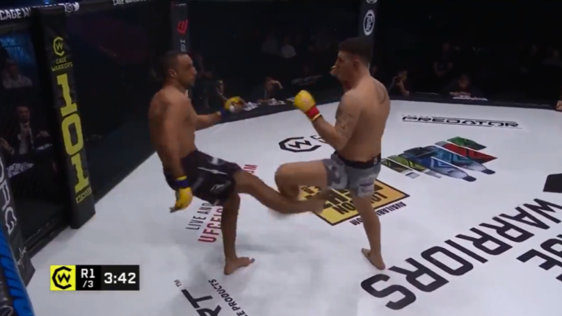 Cage Fighter Breaks Leg In Horrific Kick Gone Wrong