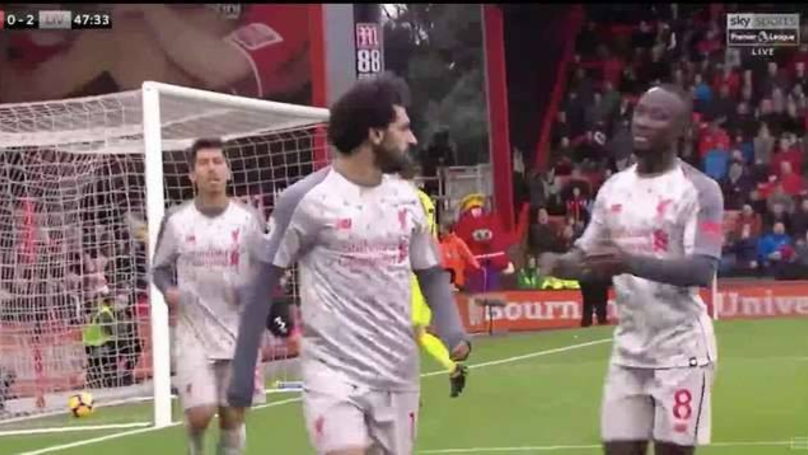 Liverpool Fans Think Mo Salah Stared Back At Steve Cook After Second Goal vs Bournemouth
