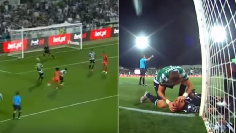 Sebastian Coates Saves Goalkeeper's Life Following Collision With Goalpost