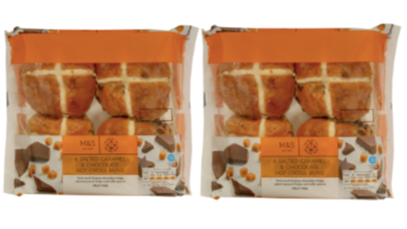 Salted Caramel And Chocolate Hot Cross Buns Are Back In M&S