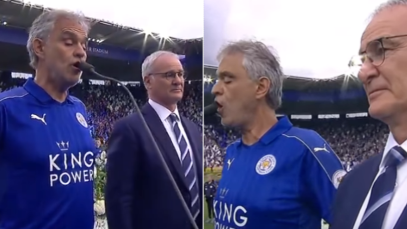 The Special Moment Andrea Bocelli Sang Nessun Dorma To Celebrate Leicester City Winning The League