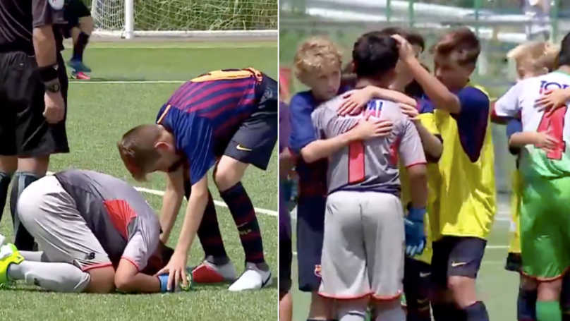 What Barcelona U14's Did After Winning Penalty Shoot-Out Is Pure Class
