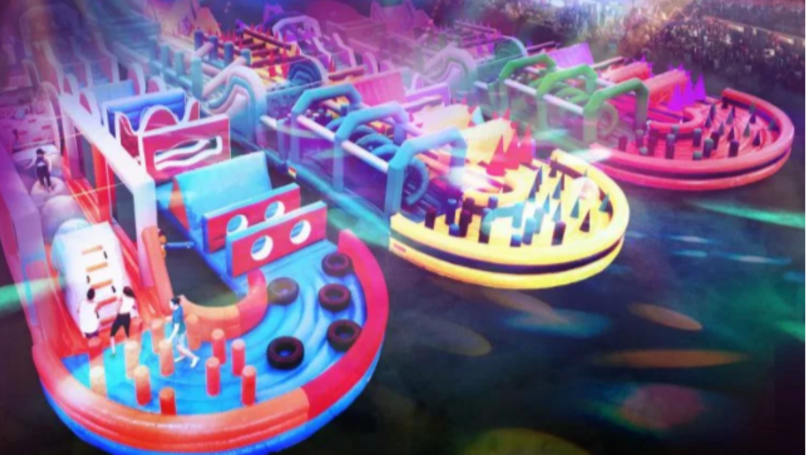 The World's Largest Inflatable Obstacle Course Is Touring Cities In The UK