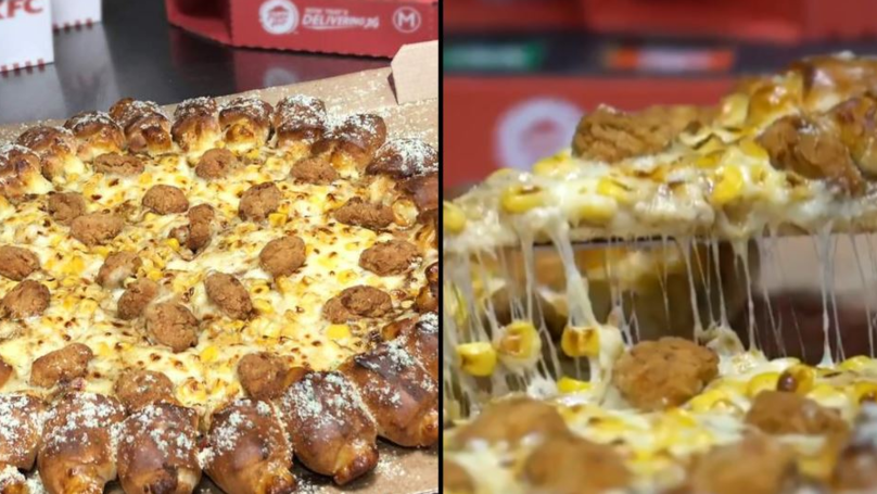 KFC And Pizza Hut Join Forces To Make Gravy And Popcorn Chicken Pizza