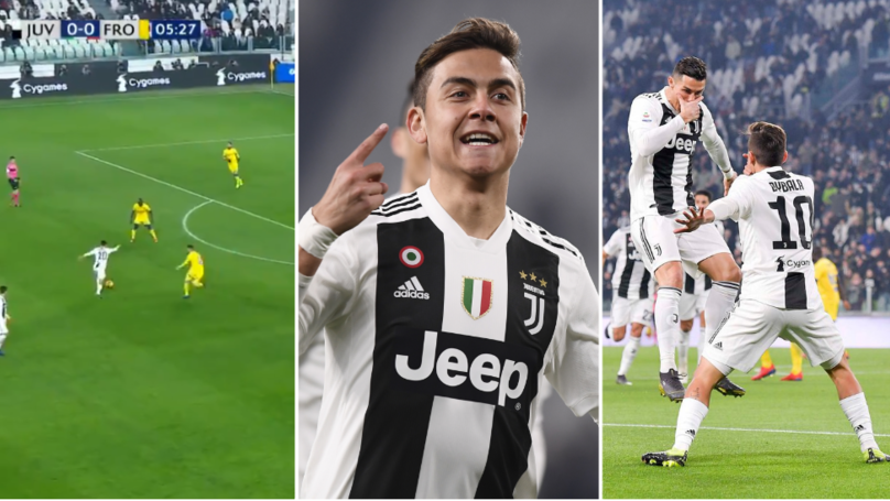 Dybala Combines His 'Dybalamask' Celebration With Ronaldo's 'Si' After Scoring Absolute Screamer