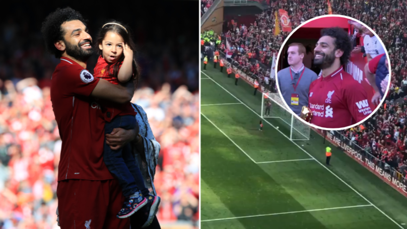 Anfield Erupts As Salah's Daughter Scores Goal In Front Of The Kop End