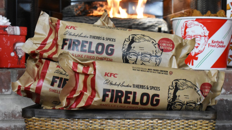​KFC Is Now Selling A Fire Log That Smells Like Fried Chicken