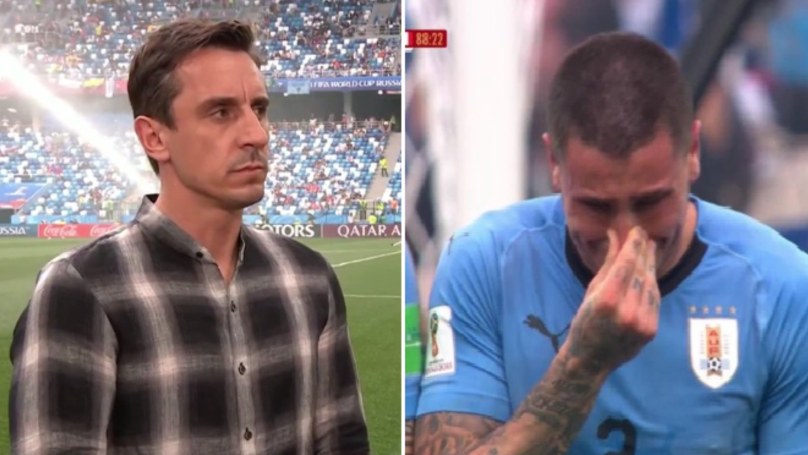 What Gary Neville Said About Jose Gimenez Crying Is Brutal