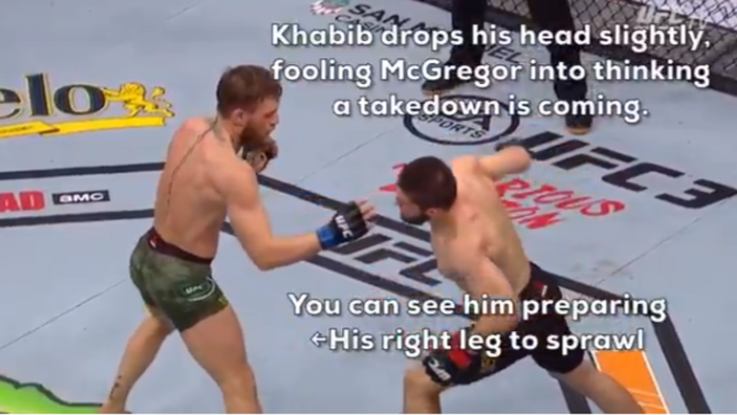 Unseen Footage Shows How Khabib Completely Fooled Conor McGregor With Second Round Punch