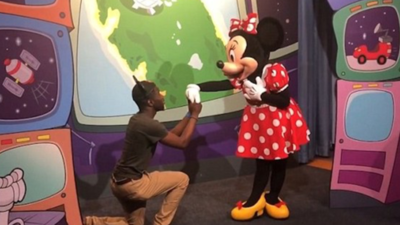 Mickey Mouse Absolutely Furious After Random Tourist Proposes To His Wife