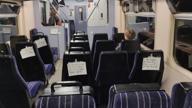Angry Commuters Leave Notes On Trains Telling Company To 'Lower Fares'