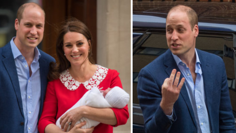 WATCH: Everyone's Convinced Prince William Just Let The Royal Baby's Name Slip
