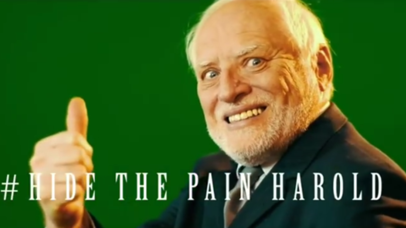 Man Behind Hide Your Pain Harold Reveals He Was Devastated By The Memes