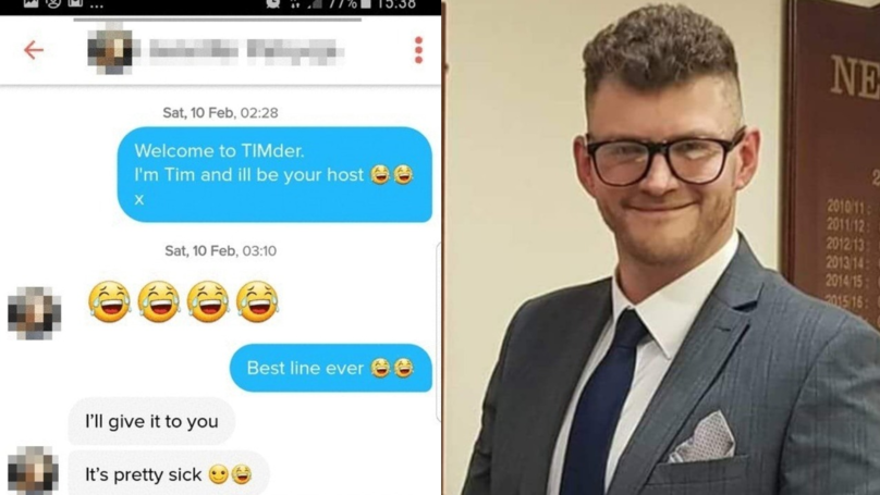 ​Bloke On Tinder Called Tim Has 80 Percent Success Rate With 'TIMder' Line