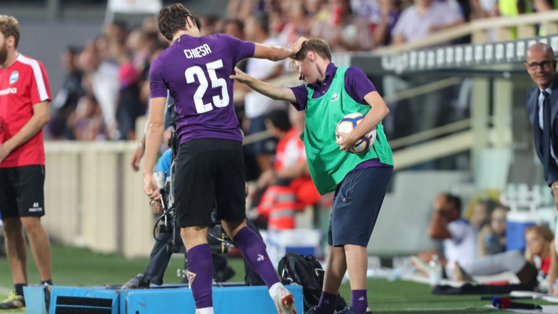 Fiorentina's Federico Chiesa Celebrated His Goal Against SPAL With His Younger Brother