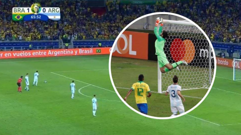 Alisson Pulled Off A Stunning Save To Deny Lionel Messi An Equaliser From 25-Yard Free-Kick