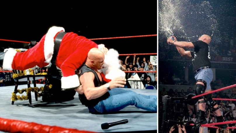 Throwback To When Stone Cold Steve Austin Hit The Stunner On Santa Claus