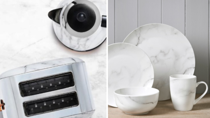 ​B&M Bargains Has Launched The chicest Marble-Effect Kitchenware