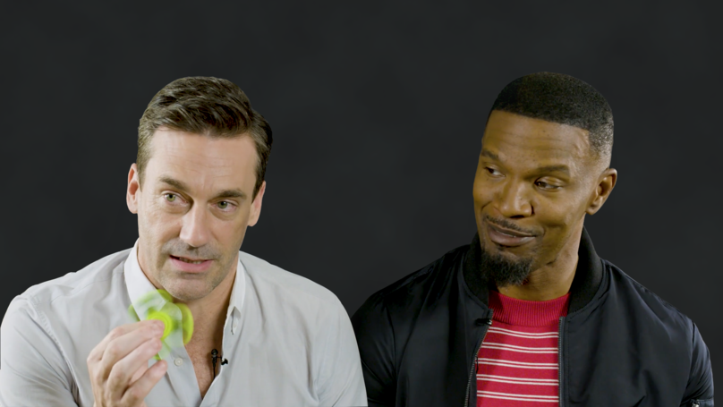 Jamie Foxx And Jon Hamm Really Don't Like Fidget Spinners