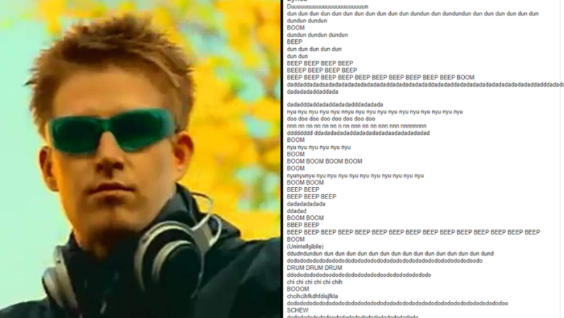 The Lyrics To Darude's 'Sandstorm' Will Be The Greatest Thing You Ever Read
