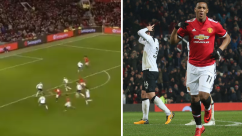 Anthony Martial's Reaction To Jesse Lingard's Stunner Was Perfect