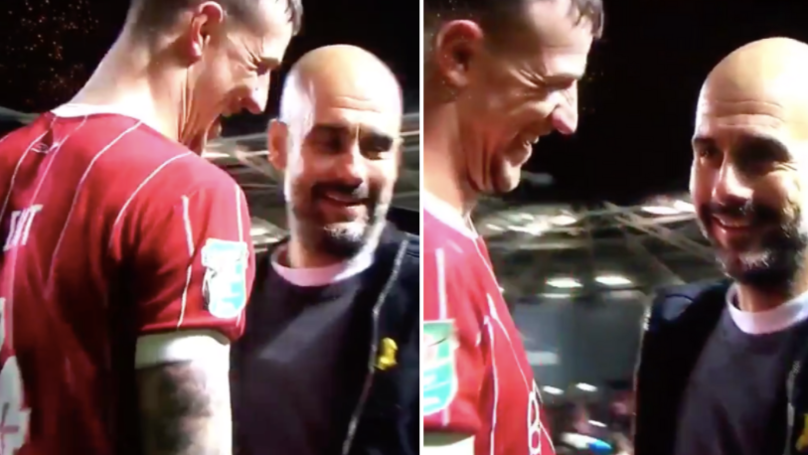 Nobody Can Believe What Bristol City's Aden Flint Said To Pep Guardiola Last Night