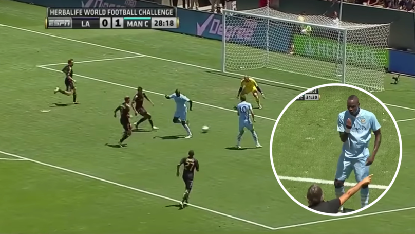 Mario Balotelli Hilariously Responds To His Infamous Backheel Trick Shot For Manchester City