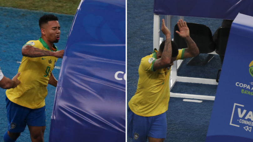 Gabriel Jesus Lost His Cool After Being Sent Off In Copa America Final