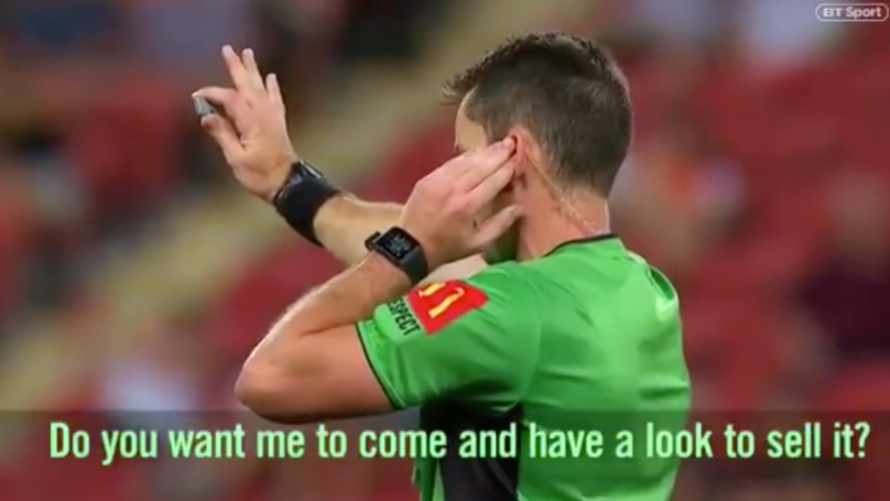 A-League Referee Wears Live Microphone For Entire Match, Lets Fans Listen In On VAR Decision