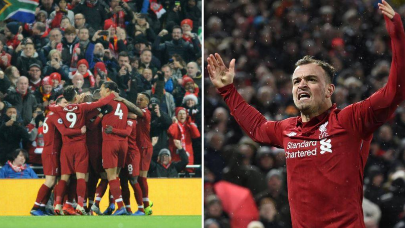 Liverpool Are Now 19 Points Clear Of Manchester United After Win At Anfield