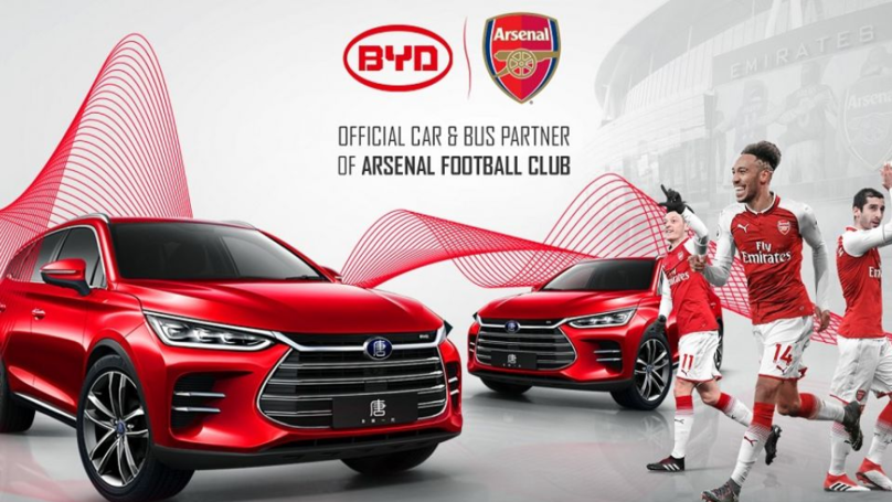 Arsenal Got Fooled By Scam Over Partnership With BYD Auto