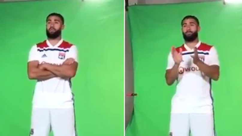 Nabil Fekir Looks Miserable During Lyon Photoshoot, Liverpool Fans Notice It