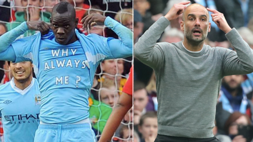 Mario Balotelli Takes The P*ss Out Of Manchester United During Manchester Derby