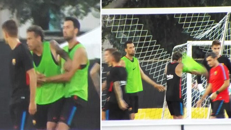 WATCH: Neymar Storms Out Of Barcelona Training After Bust Up With Teammate