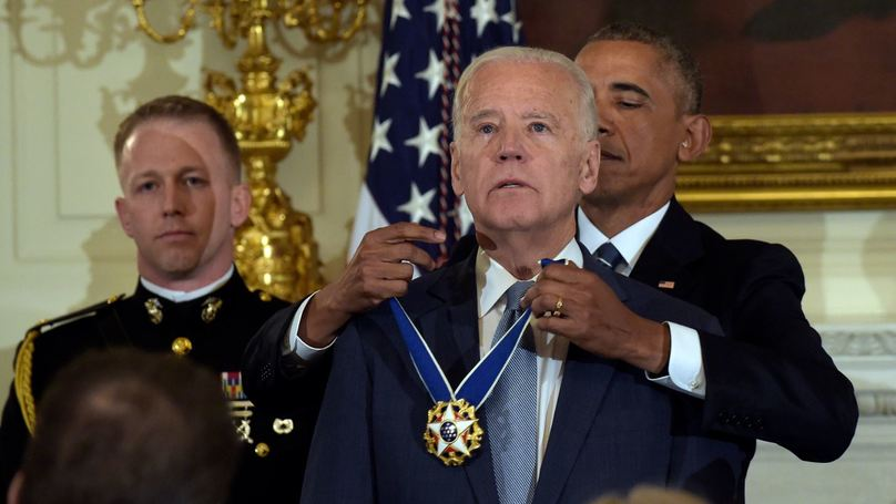 President Obama Surprises Joe Biden With Medal Of Freedom With Distinction